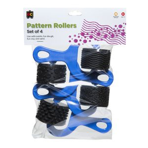 Educational Colours Rubber Pattern Rollers