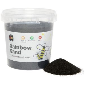 Educational Colours Rainbow Sand 1kg Black