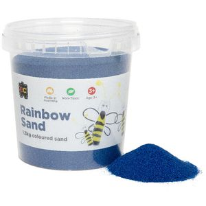 Educational Colours Rainbow Sand 1kg Blue