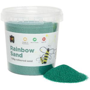Educational Colours Rainbow Sand 1.3kg Dark Green