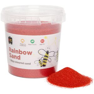 Educational Colours Rainbow Sand 1.3kg Red