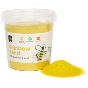 Educational Colours Rainbow Sand 1.3kg Yellow