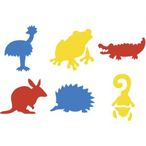 Educational Colours Australian Animals Stencils Set 2
