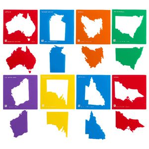 Educational Colours Australia Stencil Set