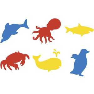 Educational Colours Sealife Stencils