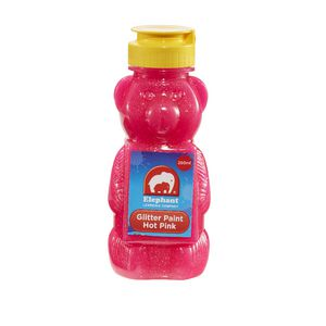 ELC Teddy Bear Glitter Paint Hot Pink 250mL