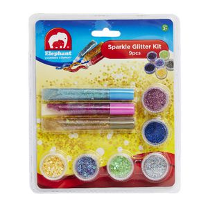 Elephant Learning Company Sparkle Glitter Kit 9 Pack