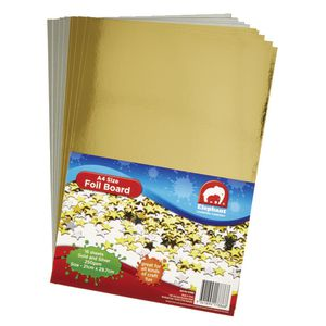 ELC A4 Foil Board Gold and Silver 16 Pack