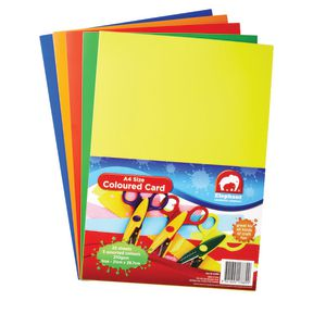 ELC A4 Coloured Card 25 Pack