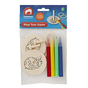 ELC Wooden Ring Toss Game with Markers