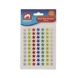 ELC Multi Coloured Star Stickers 210 Pack