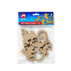 ELC MDF Shapes Reptile 4 Pack