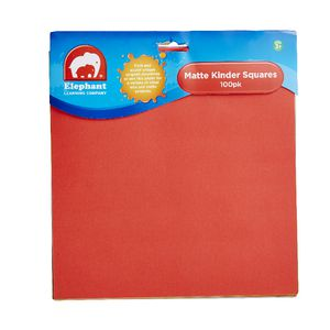 ELC Kinder Squares 125 x 125mm Matt Finish 100 Pack