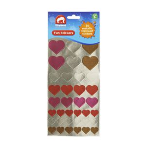 ELC Fun Stickers Metallic Foil Hearts 36 Pack