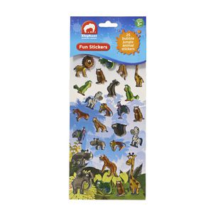 ELC Fun Stickers Epoxy Jungle Animals 25 Pack