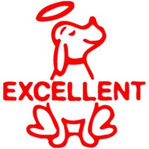 elc merit stamp excellent dog red officeworks