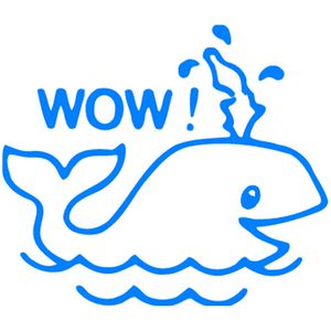 ELC Merit Stamp Wow Whale Blue