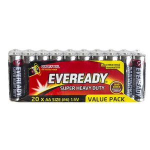 Eveready Super Heavy Duty AA Batteries 20 Pack