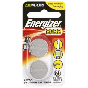 Energizer 3V CR2032 Lithium Coin Batteries 2 Pack