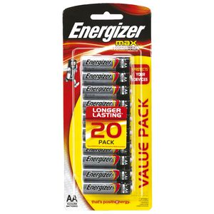 Energizer Max AA Batteries 20 Pack