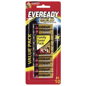 Eveready Gold AA Batteries 10 Pack