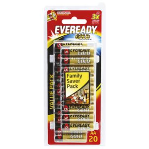 Eveready Gold AA Batteries 20 Pack