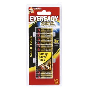 Eveready Gold AAA Batteries 16 Pack