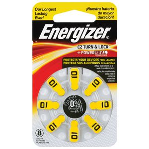 Energizer Hearing Aid 10 Battery 8 Pack