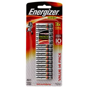 Energizer Max AAA Batteries 14 Pack