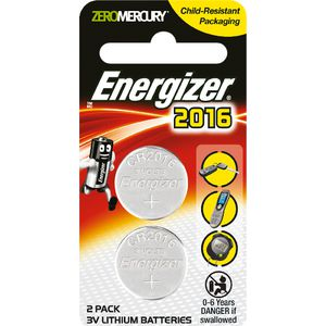 Energizer CR2016 Batteries 2 Pack