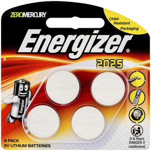 Energizer 2025 3V Lithium Batteries 4 Pack
