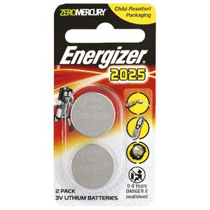 Energizer CR2025 Batteries 2 Pack