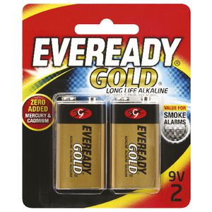 Eveready Gold Alkaline 9V Batteries 2 Pack