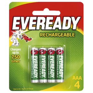 Eveready Recharge AAA Batteries 4 Pack