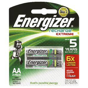 Energizer AA Rechargeable Batteries 2 Pack