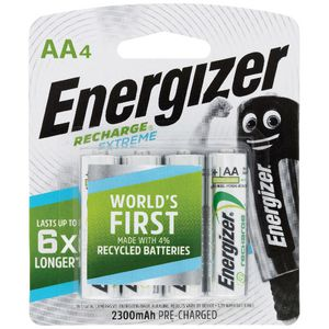 Energizer Rechargeable AA Batteries 4 Pack