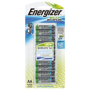 Energizer Eco Advanced AA Batteries 10 Pack