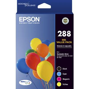 Epson 288 4 Colour Ink Cartridge Pack