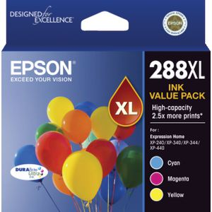 Epson 288XL 3 Colour Value Pack