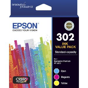 Epson 302 3 Colour Ink Cartridge Value Pack