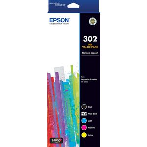 Epson 302 5 Ink Cartridge Value Pack