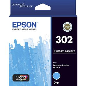 Epson 302 Premium Ink Cartridge Cyan