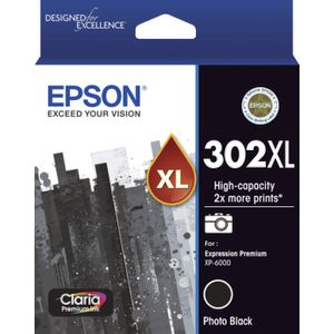 Epson 302XL Premium Ink Cartridge Photo Black