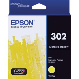 Epson 302 Premium Ink Cartridge Yellow