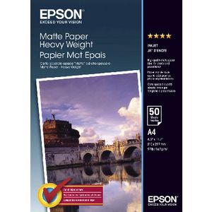 Epson 167gsm A4 Heavyweight Matte Photo Paper 50 Sheet Pack