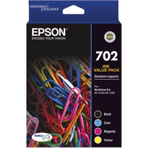 Epson 702 4 Colour Ink Cartridge Value Pack