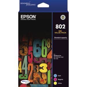 Epson 802 3 Colour Ink Cartridge Value Pack
