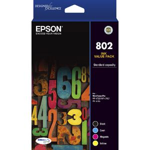 Epson 802 4 Colour Ink Cartridge Value Pack