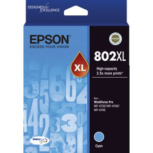 Epson 802XL Ink Cartridge Cyan