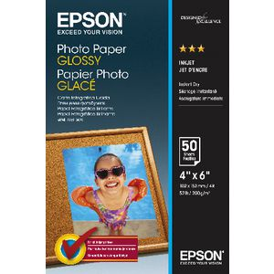 Epson 200gsm 6 x 4 Glossy Photo Paper 50 Sheet Pack